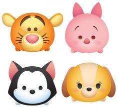 Tsum Tsum Toys, Tsum Tsum Party, Disney Tsum Tsum, Disney Diy, Baby Disney, Tsum Tsum Wallpaper, Tsum Tsum Coloring Pages, Disneyland Pins, Cute Winnie The Pooh