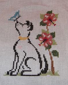 My first Britty Doggy! Cross Stitch Uk, Stitch 2, Cross Stitch Flowers, Cross Stitch Patterns, Cross Stitch Collection, Bargello, Needlepoint, Needlework, Embroidery