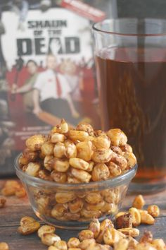 Crunchy, roasted, spiced corn snacks perfect for munching alongside a pint.
