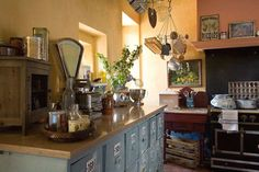#french #bohemian #kitchen