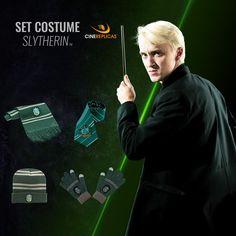 Harry Potter 5 tatoua Pack déguisement Slytherin : robe de sorcier cravate