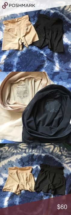 SPANX Shape My Day Shorts - 1 black/1nude) SMALL SPANX compression shorts - Shape My Day Shorts  Set of 2 (1 black & 1 nude)  both are size SMALL  Worn twice each - perfect condition. No flaws.  Retail for $50 each SPANX Other