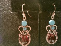 Turquoise and red glass