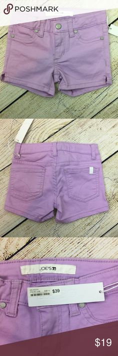 Joe's Jeans Kids Neon Mini Short Kids Shorts Joe's Jeans Kids Neon Mini Short (Toddler/Little Kids). The Joe's Jeans purple shirt is a perfect fit with stretch that adds comfort for the movement. This spring and summer it is all about vibrant colors! Made of 98% Cotton and 2% Spandex. Color is Purple. Size is Kid's 4. Joe's Jeans Bottoms Shorts