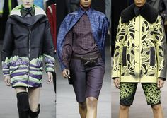 Alexander Wang A/W 2014/15-Graphic Landscape Visuals – Acid Colour Combinations – Smart Paisley Foulards – Simple Paisley Cut-outs – Over Scaled Laser Cut Paisley Pattern – Spray Painted Shadows – Modern Sportswear References