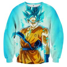6ab14d41f544 3D Printed Dragon Ball Goku Blue Flame Sweatshirt. Saiyan Stuff. Cool  DragonsBlue FlamesSon ...