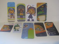 Assortment of Team Umizoomi Die Cuts- can be used in Scrapbooking, made into a book marker.. Use your imagination- the uses are endless!! by ScrapPantry, $3.25 USD