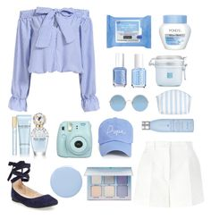 """Blue Bow"" by ggis812 ❤ liked on Polyvore featuring Dolce&Gabbana, Steve Madden, Neutrogena, Marc Jacobs, Essie, Anastasia Beverly Hills, Borghese, Sunday Somewhere, Catherine & Jean and Boohoo"