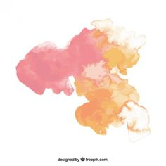 Abstract watercolor stain Free Vector - free