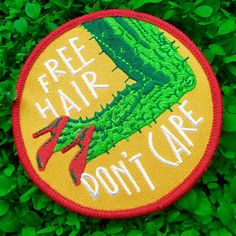 free hair, don't care patch