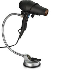 Amazon.com : Hair Dryer Holder Stand and Mount for Hands-Free Styling Blow Drying, Mounts to Tiled Walls or Any Smooth Surface via Heavy Duty Suction Cup Without Drilling and Adjusts 360 Degrees : Beauty