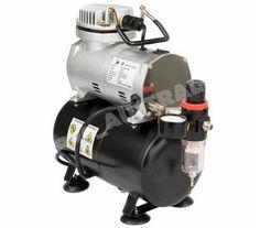 Air Compressor from eBay like this one. https://m.ebay.com.au/itm/1-5-hp-Compressor-Airbrush-Single-Action-Dual-Action-Spray-Gun-Kit-Air-Brush-Set/322570695522?hash=item4b1ab63362:g:7qcAAOSwbtVZU2Nd