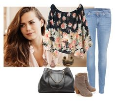 Haley James Scott inspired by milly-clifford on Polyvore featuring 7 For All Mankind, rag & bone, See by Chloé, DANNIJO, 1928 and Tiffany & Co.