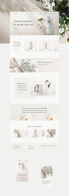 Cosmetic Web, Cosmetic Design, Graphic Design Fonts, Branding Design, Ux Design Portfolio, Web Design Projects, Homepage Design, Website Design Inspiration, Natural Cosmetics