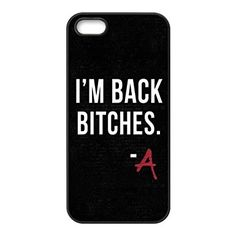 High Quality Customizable Durable Rubber Material Pretty Little Liars Quotes iPhone 5 5S Back Cover Case: Amazon.it: Elettronica