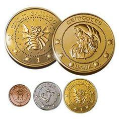 Wizarding World British Currency: Galleon(gold) = 17 Sickles Sickle (silver) = 29 Knuts Knut(copper) = lowest denom. CONVERSION TO BRITISH£ 1 ∆(Galleon) = £4.93 1 ~* (Sickle) = £0.29  ' ' ' American Currency: 1∆(Galleon) = $7.35USD 1~*(Sickle). = $0.46USD