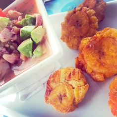 Mixed Ceviche + Avocado + Patacones = Perfect Breakfast via  Hotel Solymar Galapagos @hotelsolymargps