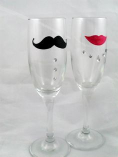 DIY Toasting Wedding Glasses