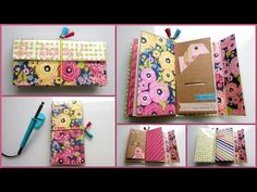 Traveler notebbok Be happy. Diy Crafts For Girls, Note Holders, Baby Album, Shaker Cards, Paper Houses, American Crafts, Stamping Up, Scrapbooks, Free Design