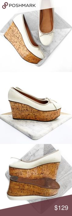 Anthropologie leifsdottir leather ballerina wedge Super chic! Some minor scuffing as shown. No trades. Always open to offers. All photos are of actual item Anthropologie Shoes Wedges