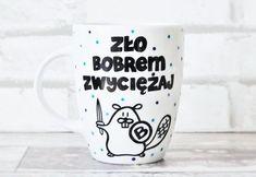 """Kubek """"Zło bobrem zwyciężaj"""" 300ml - Salomeah - Kubki i filiżanki"""