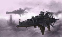 Dieselpunk airships