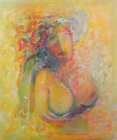 Hélène 70x80cm : peinture à l'huile sur toile