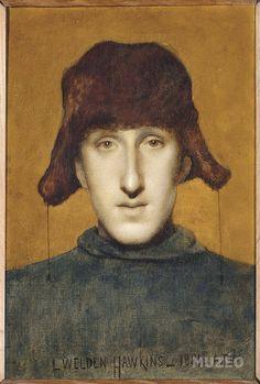 Portrait de jeune homme de Hawkins Louis-Welden