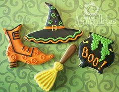 Witch sugar cookies, love the hat!
