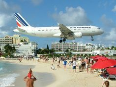 Maho Beach, St. Maarten The jets coming in over the beach is awesome!