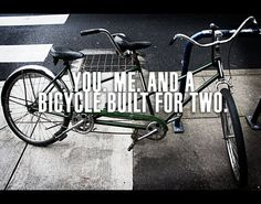 Bicycle Built for Two Tandem Bicycle Valentine's Day by Ziglets, $18.00