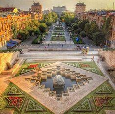 The Cascade Stairs in Yerevan,Armenia
