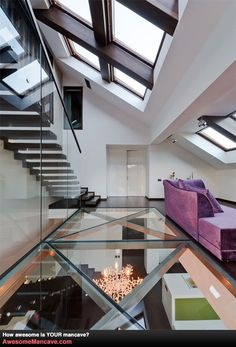 Amazing Glass Floor   Awesome Mancave