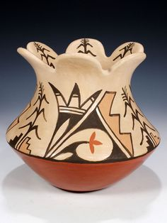 Jemez Pueblo Hand Coiled Pottery. No date or artist noted.