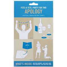 Fete-A-Tete...Party 4 Two Apology