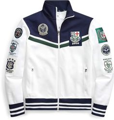 Ralph Lauren Wimbledon Double-Knit Jacket Letterman Jacket Outfit, Polo Outfit, Boys Hoodies, Mens Sweatshirts, Mens Outdoor Jackets, Polo Jackets, Swag Outfits Men, Mens Jogger Pants, Preppy Men