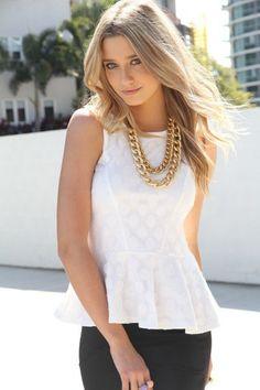 #saboskirt.com            #Skirt                    #SABO #SKIRT #White #Spot #Peplum #$48.00           SABO SKIRT White Spot Peplum Top - $48.00                                     http://www.seapai.com/product.aspx?PID=1051544