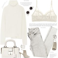 A fashion look from July 2015 featuring Proenza Schouler sweaters, Hanky Panky bras and Steve Madden pumps. Browse and shop related looks.