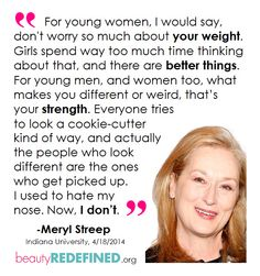 Meryl Streep Beauty Redefined Quote Graphic