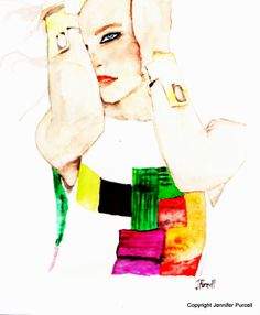Fashion Illustration | Palettes Of Fashion: Caroline Trentini Fashion Illustration