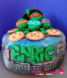 Tarta de las tortugas ninjas - boys cake - tarta para niños