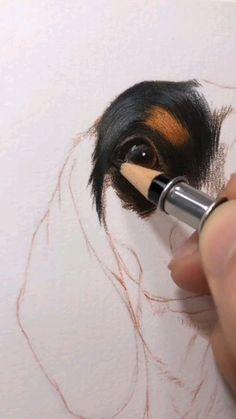 Color Pencil Drawings, Pencil Drawings Of Animals, Realistic Pencil Drawings, Pencil Sketching, Art Drawings Sketches Simple, Color Pencil Art, Art Painting Gallery, Sketch Painting, Drawing Art