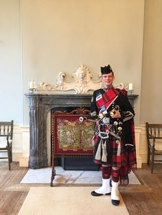 Roddy the Piper from Reel Time Events in front of the Ballroom fireplace. Scottish Weddings, Castle, Events, Dresses, Fashion, Vestidos, Moda, Fashion Styles, Castles