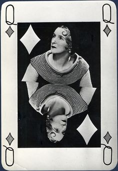 Valentine Hugo as Queen of Diamonds by Man Ray 1935, gelatin silver print