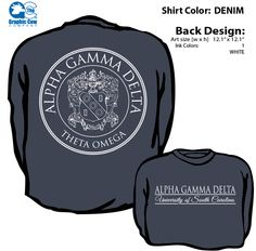 Alpha Gamma Delta Crest Long Sleeve Comfort Colors T-shirt!