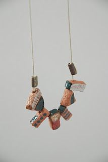 Shino Tekada ceramic necklace