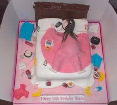 teenage girls Messy Bedroom cake - cake by Krazy Kupcakes - CakesDecor 18th Birthday Cake For Girls, Funny Birthday Cakes, Happy 16th Birthday, Pink Birthday Cakes, Cupcake Birthday, Birthday Ideas, Teenage Girl Cake, Teenage Girl Birthday, Teenager Birthday