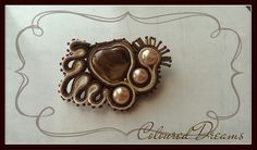 New concept- accessory for jacket, scarf, bag, tote- Coloured Dreams brooch in caramel and chocolate brown