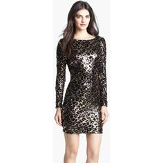 $198.00 Dress the Population 'Lola' Animal Sequin Dress