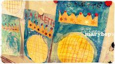 Arts visuels : Galette - Quadrillage. - La Classe de Marybop Album, School, Visual Arts, Queens, Card Book